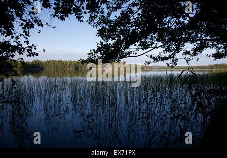 View of Lake Ahveninen Finland - Stock Photo