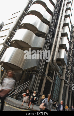 Lloyds of London building London. United Kingdom. Designed by Richard Rogers Partnership - Stock Photo