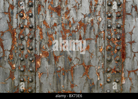 Extensive rusting on girders - Stock Photo
