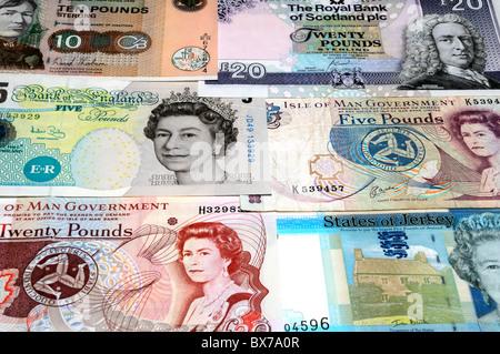 UK Banknotes. - Stock Photo
