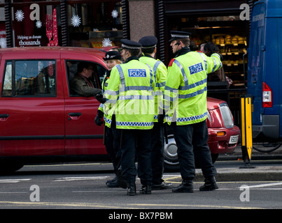 Metropolitan police officers on duty in London. - Stock Photo