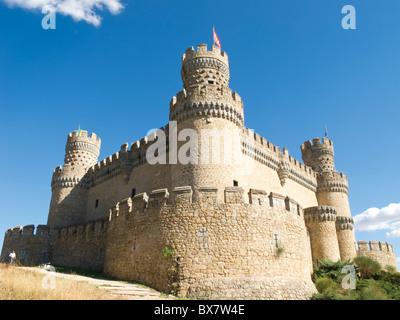 Castle at Manzanares el Real, Spain - Stock Photo