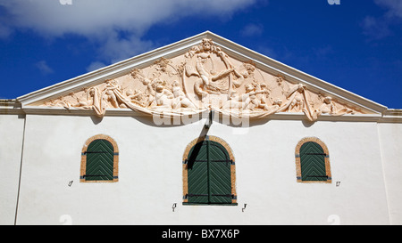 The wine cellar at Groot Constantia, the finest surviving example of Cape Dutch architecture. - Stock Photo