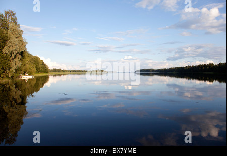 View of Lake Suontee Finland at Summer evening , Finland - Stock Photo