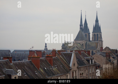 Saint Nicolas's church, Blois - Stock Photo