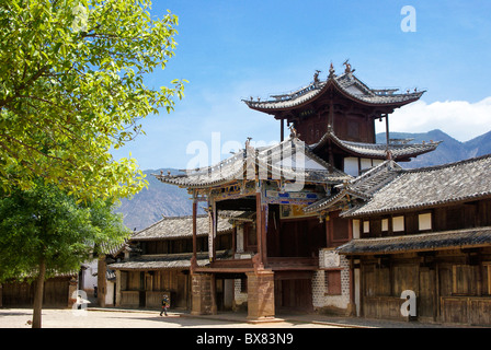 Three Terraced Pavilion, Shaxi, Jiangsu, China - Stock Photo