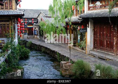 Lijiang's old town (Dayan), Yunnan, China - Stock Photo