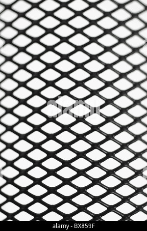Black wire mesh pattern on white background - Stock Photo