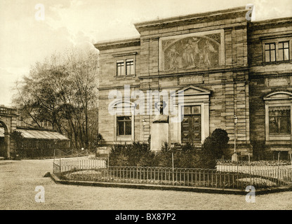 geography / travel, Germany, Bayreuth, museums, Richard Wagner Museum, Villa Wahnfried, exterior view, circa 1900, - Stock Photo