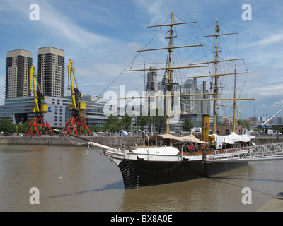 Corbeta Uruguay, now a museum, Puerto Madero, Buenos Aires, Argentina - Stock Photo
