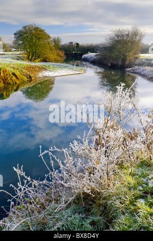 Winter River Landscape - Stock Photo