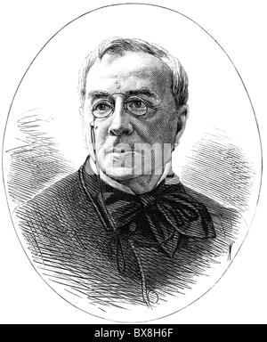 Girardin, Emile de, 22.6.1806 - 27.4.1881, French publicist, journalist, portrait, wood engraving, published in - Stock Photo
