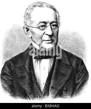 Gorchakov, Alexander Mikhailovich, 15.7.1798 - 11.3.1883, Russian diplomat, portrait, wood engraving, 19th century, - Stock Photo
