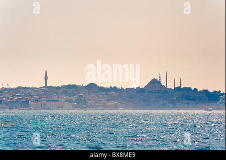 Bosphorus river view of the city of Istanbul Turkey - Stock Photo