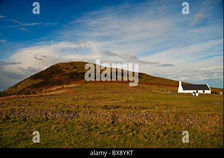 Mwnt and it's church. Ceredigion The Church of the Holy Cross (Welsh: Eglwys y Grog) - Stock Photo