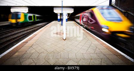 New Street Train Station, Birmingham, West Midlands, England, UK - Stock Photo