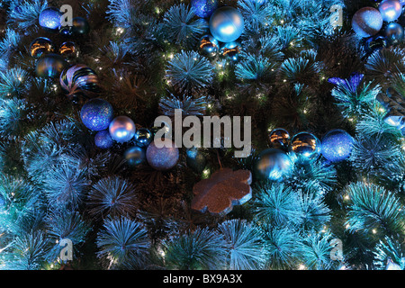 Detail shot of beautifully decorated Christmas Tree - Stock Photo