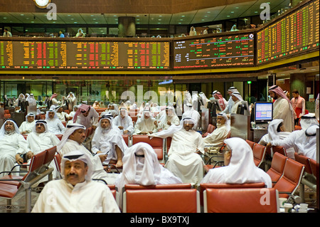 The stock exchange, Kuwait City, Kuwait - Stock Photo