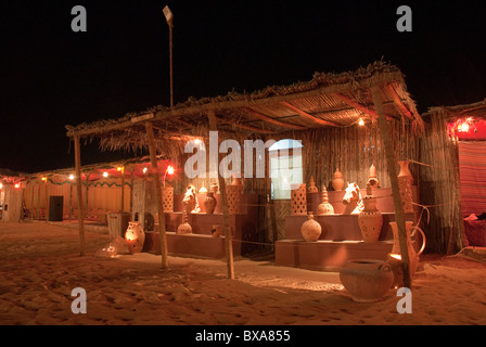 Typical desert dinner and adventure in Dubai Stock Photo