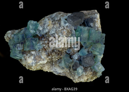 Fluorite and Galena - Rogerley Mine - County Durham - England - UK - Stock Photo