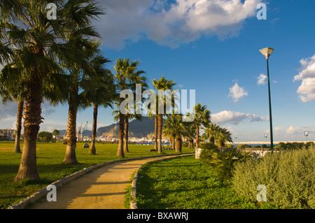 Terrazza a mare park by the sea Palermo Sicily Italy Europe - Stock Photo