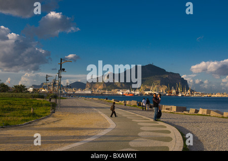 Terrazza a mare park by the sea Palermo Sicily Italy Europe - Stock Photo