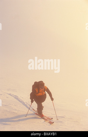 Person cross-country skiing - Stock Photo
