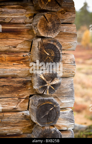 Exterior of wood cottage, close-up - Stock Photo
