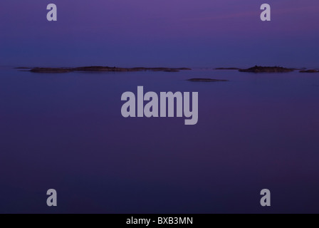 Water surface in night - Stock Photo