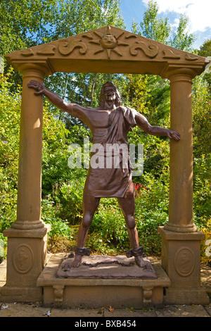 Biblical Garden, Elgin Cathedral, Moray, Highland Region, Scotland, September, 2010 - Stock Photo