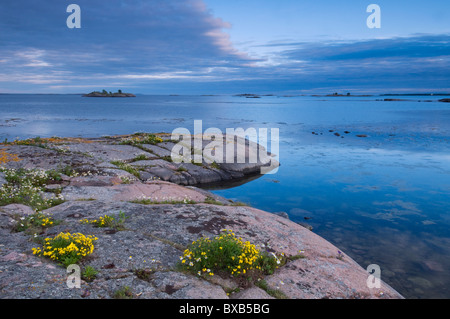 Rocky shore and water - Stock Photo