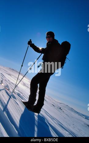 Skier on slope - Stock Photo