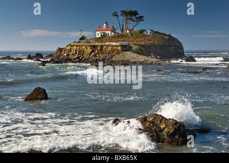 Battery Point Lighthouse in Crescent City on Redwood Coast, California, USA - Stock Photo