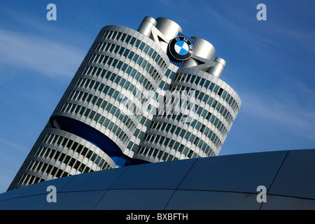 Headquarters of BMW AG, Munich, Bavaria, Germany, Europe - Stock Photo