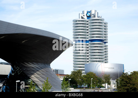 Headquarters of the BMW AG in Munich, Bavaria, Germany, Europe - Stock Photo