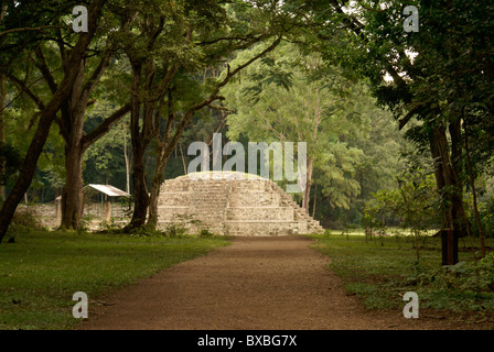 Mayan road or sacbe leading to the ruins of Copan, Honduras. Copan is a UNESCO World Heritage Site. - Stock Photo