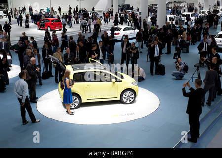 Study electric car e-up of the Volkswagen AG group at the 63. Internationale Automobilausstellung International - Stock Photo