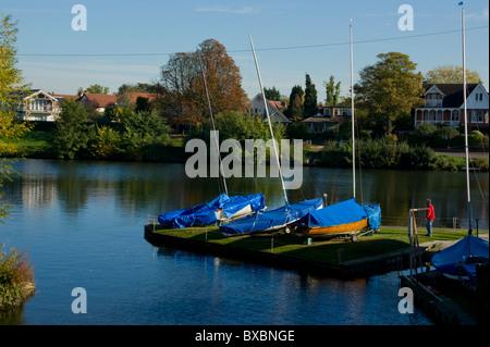 UK, England, London, Teddington, River Thames - Stock Photo