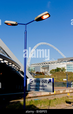 europe, UK, England, London, Wembley Stadium and station 2010 - Stock Photo