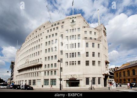 Radio channel BBC, Broadcasting House, London, England, United Kingdom, Europe - Stock Photo
