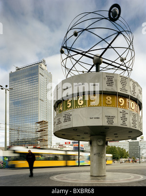 Urania World Clock at Alexanderplatz, Berlin, Germany - Stock Photo