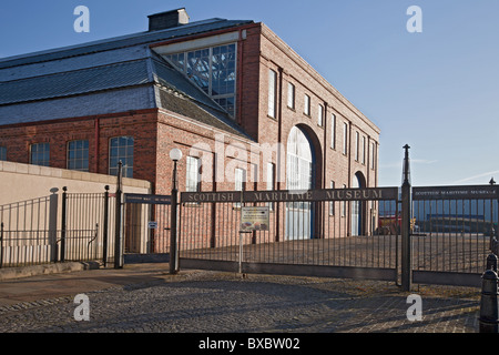 Entrance and Linthouse Building at the Scottish Maritime Museum in Irvine, North Ayrshire, Scotland, UK, Great Britain - Stock Photo