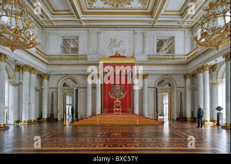 The Hermitage St George Hall St Petersburg Russia - Stock Photo