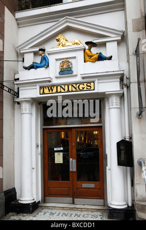 The Twinings Tea shop on The Strand in London, England. - Stock Photo
