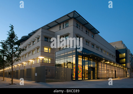 The Embassy of the United States of America in the evening, Berlin, Germany - Stock Photo