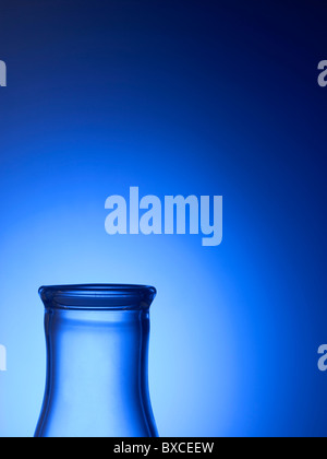 Close Up Detail Of Clear Glass Beaker Vial - Stock Photo