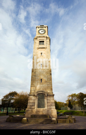 Cocker clock tower in Stanley Park, Blackpool - Stock Photo