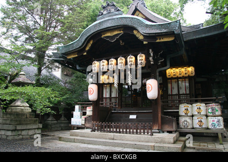 A small Shinto shrine in Gion district in Kyoto, Japan - Stock Photo