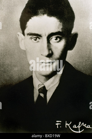 Franz Kafka (1883-1924). Czech writer in German language. Portrait. - Stock Photo