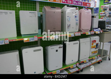 Portable air conditioners for sale in Bic Camera store in Toyo Japan 2010 - Stock Photo